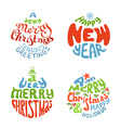 A very merry christmas and happy new year balls vector