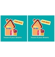 House for sale and for rent vector