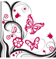 Background of abstract butterflies vector