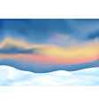 Abstract landscape with snow vector