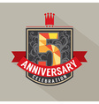 5 years anniversary badge design vector