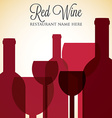 Red wine list menu cover in format vector
