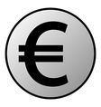 Euro button vector