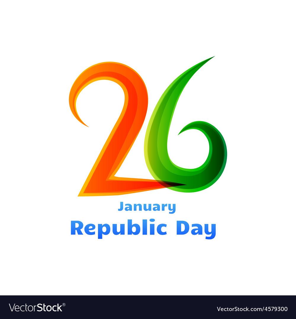 26th republic day celebration design vector | Price: 1 Credit (USD $1)