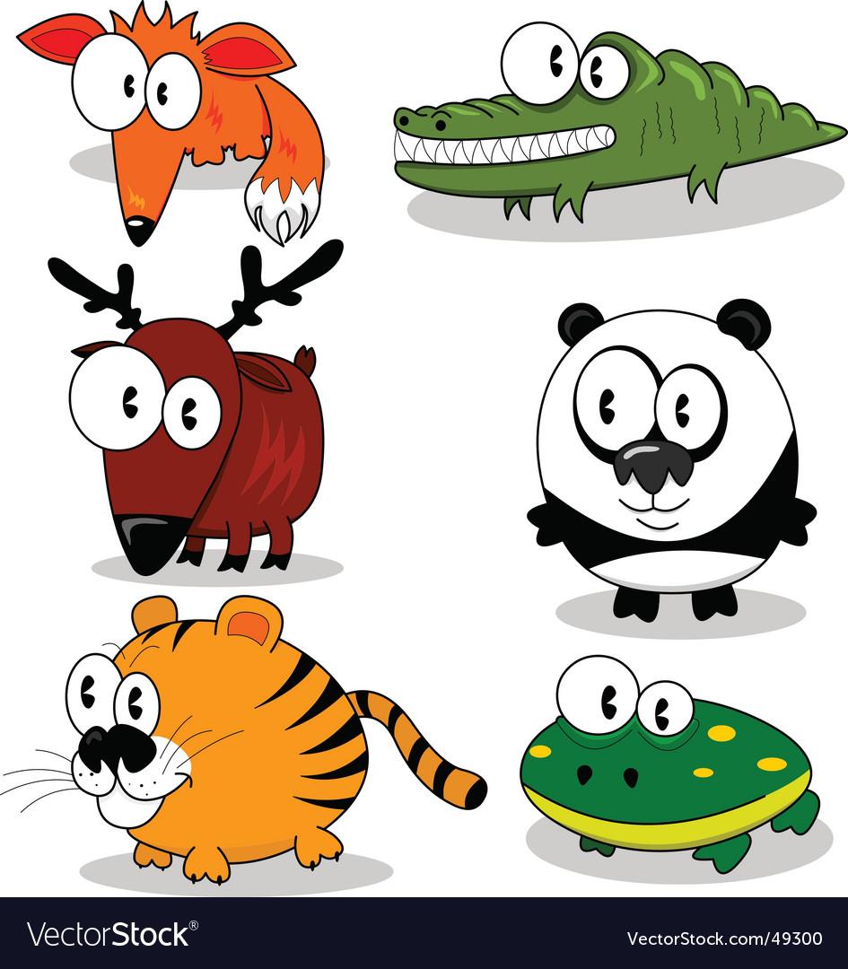 Cartoon animals vector   Price: 1 Credit (USD $1)