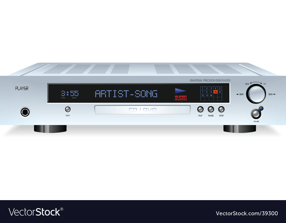 Cd or dvd player vector | Price: 3 Credit (USD $3)