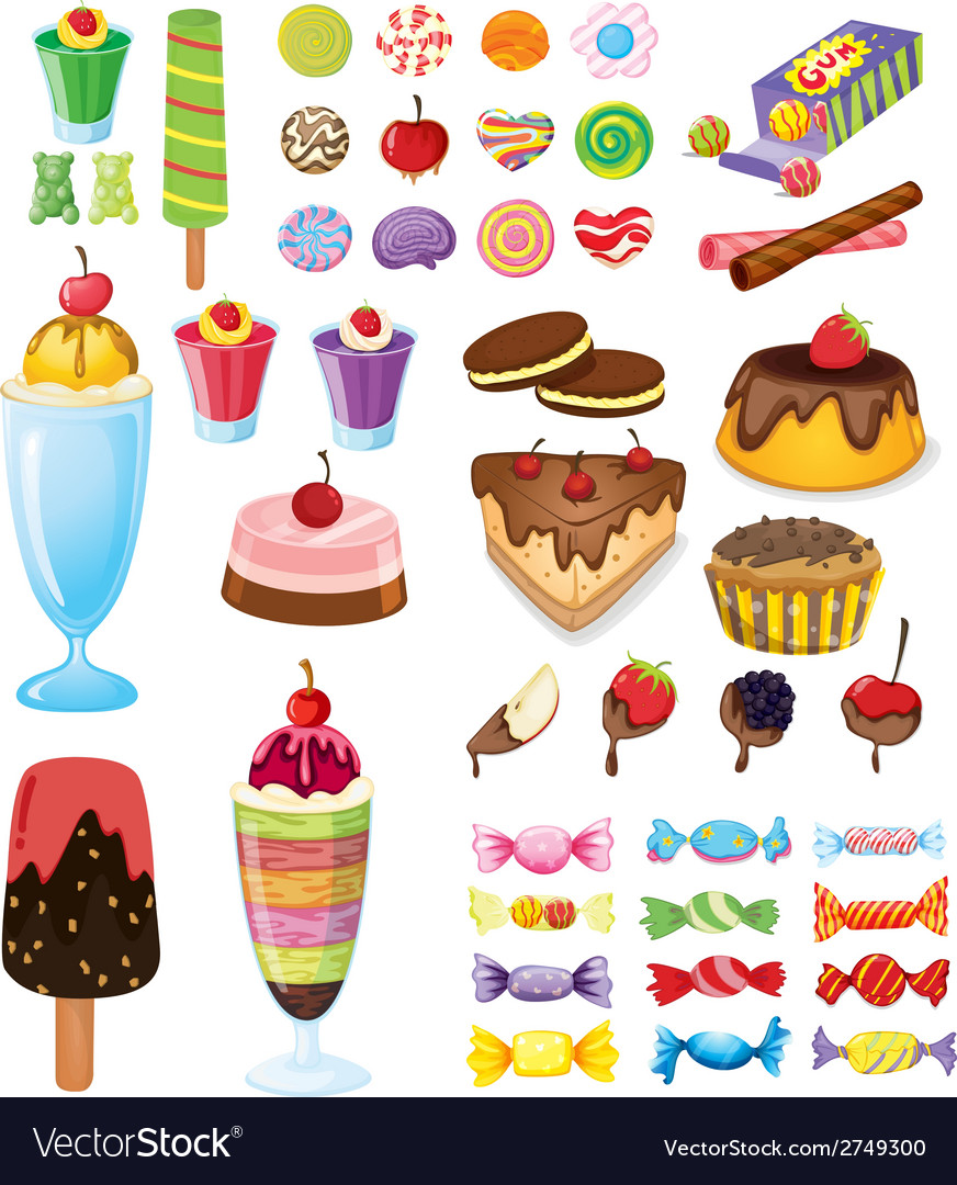 Different sweets vector | Price: 1 Credit (USD $1)