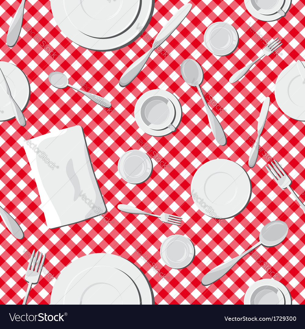 Dishes seamless pattern vector | Price: 1 Credit (USD $1)