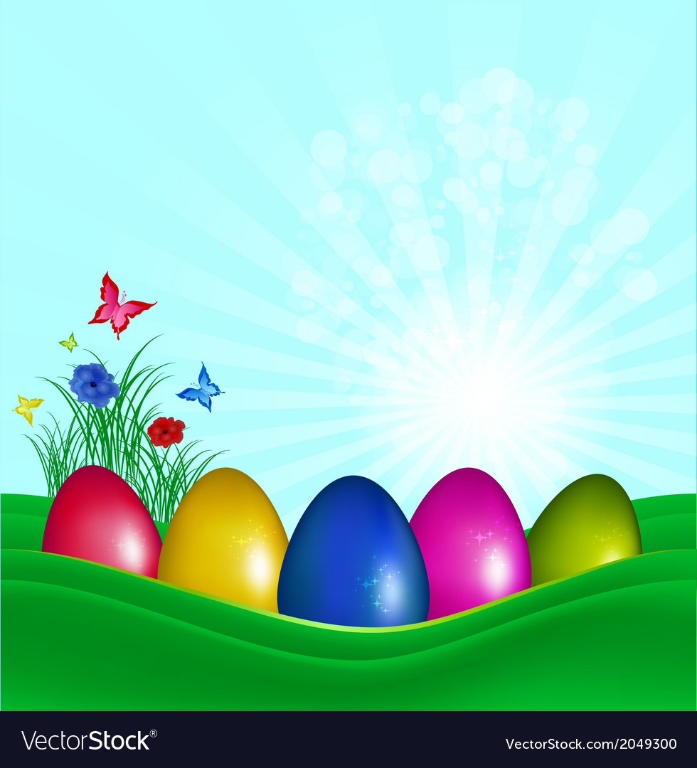 Easter color eggs vector | Price: 1 Credit (USD $1)