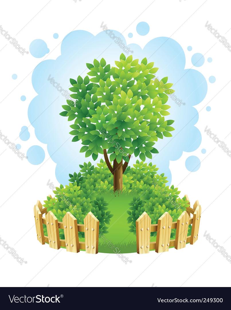 Garden fence vector | Price: 3 Credit (USD $3)