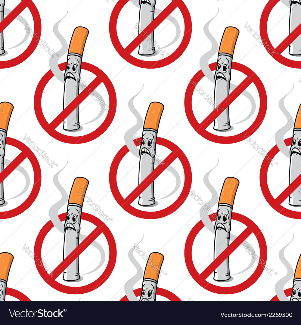 No smoking seamless background pattern vector | Price: 1 Credit (USD $1)