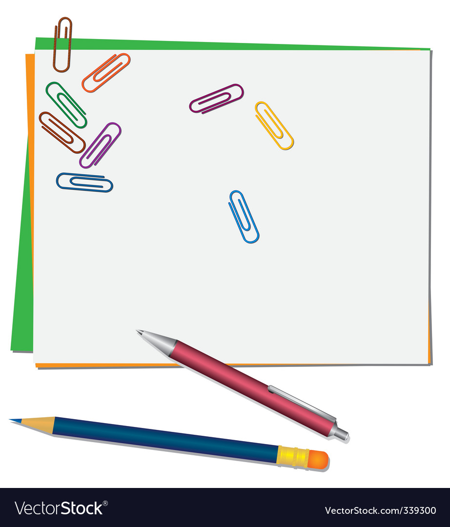 Pencil and pen vector | Price: 1 Credit (USD $1)