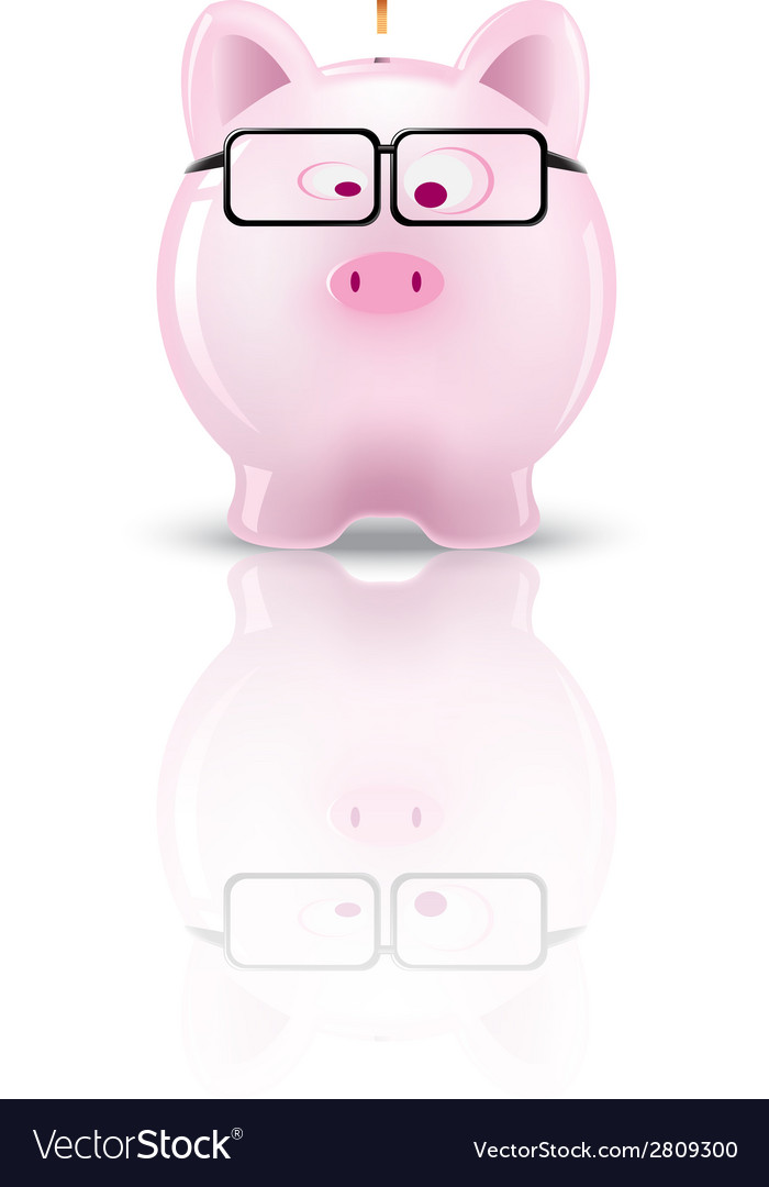 Piggy bank01 vector | Price: 1 Credit (USD $1)