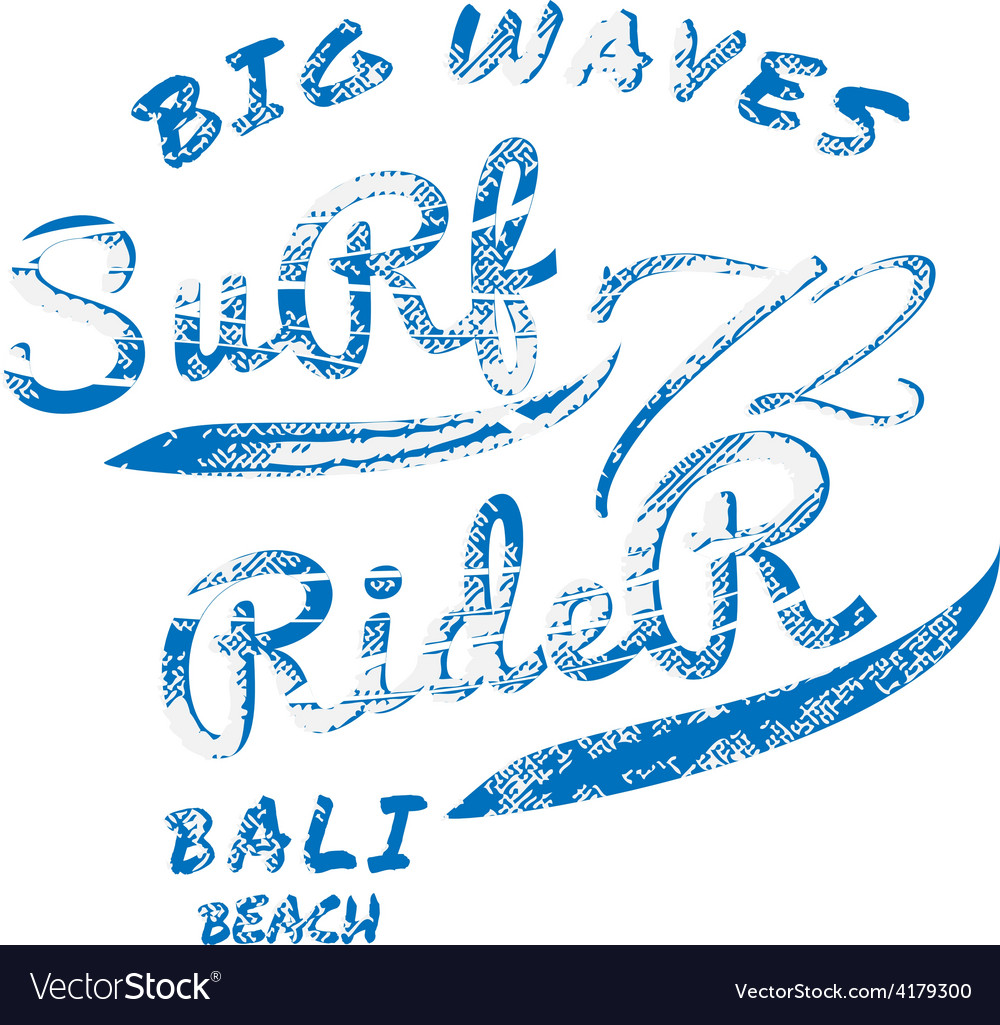 Surf rider typography t-shirt graphics vector | Price: 1 Credit (USD $1)