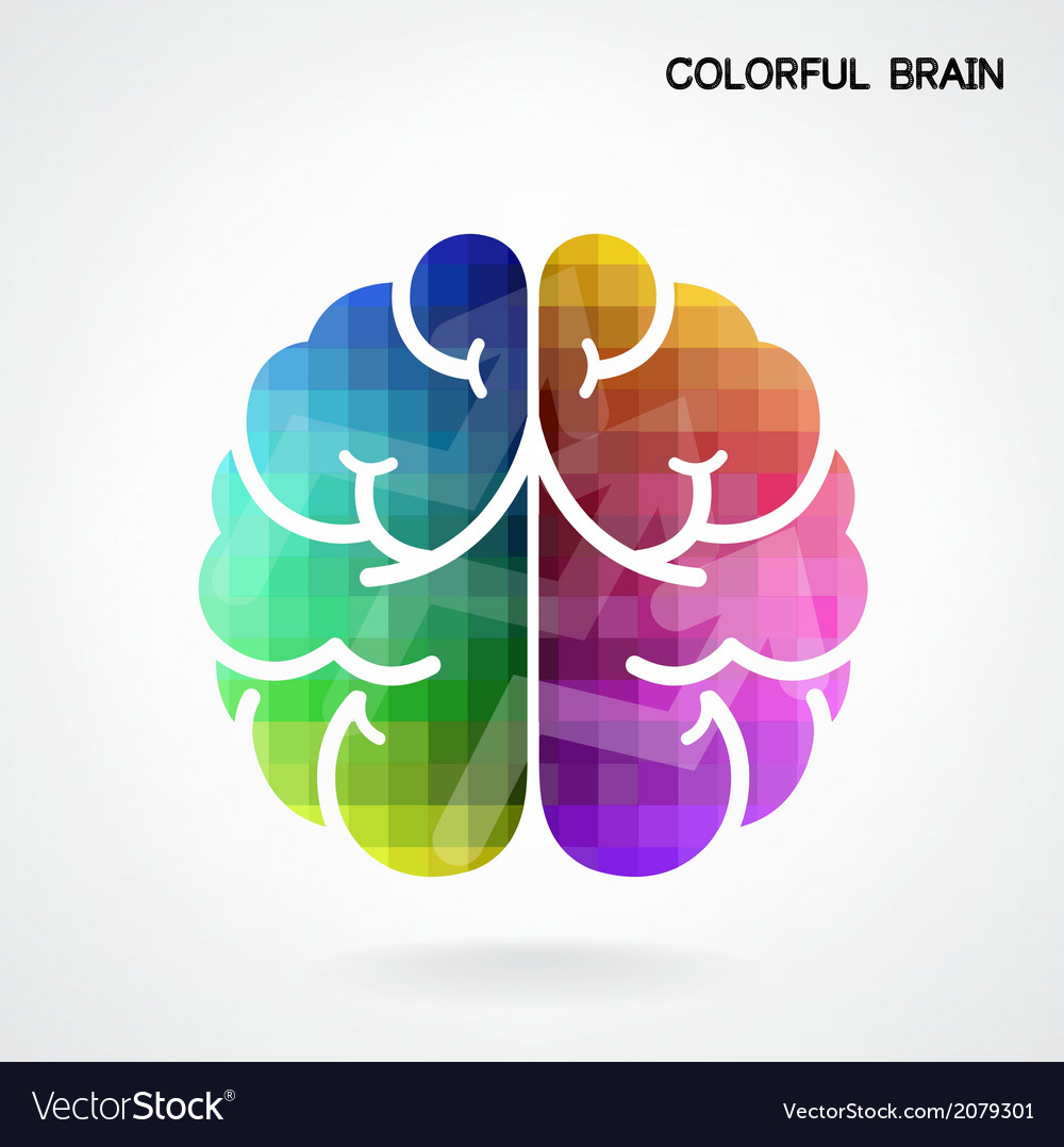 Creative colorful left brain and right brain idea vector | Price: 1 Credit (USD $1)