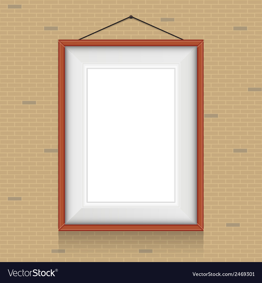Frame for paintings or photographs on the brick vector | Price: 1 Credit (USD $1)