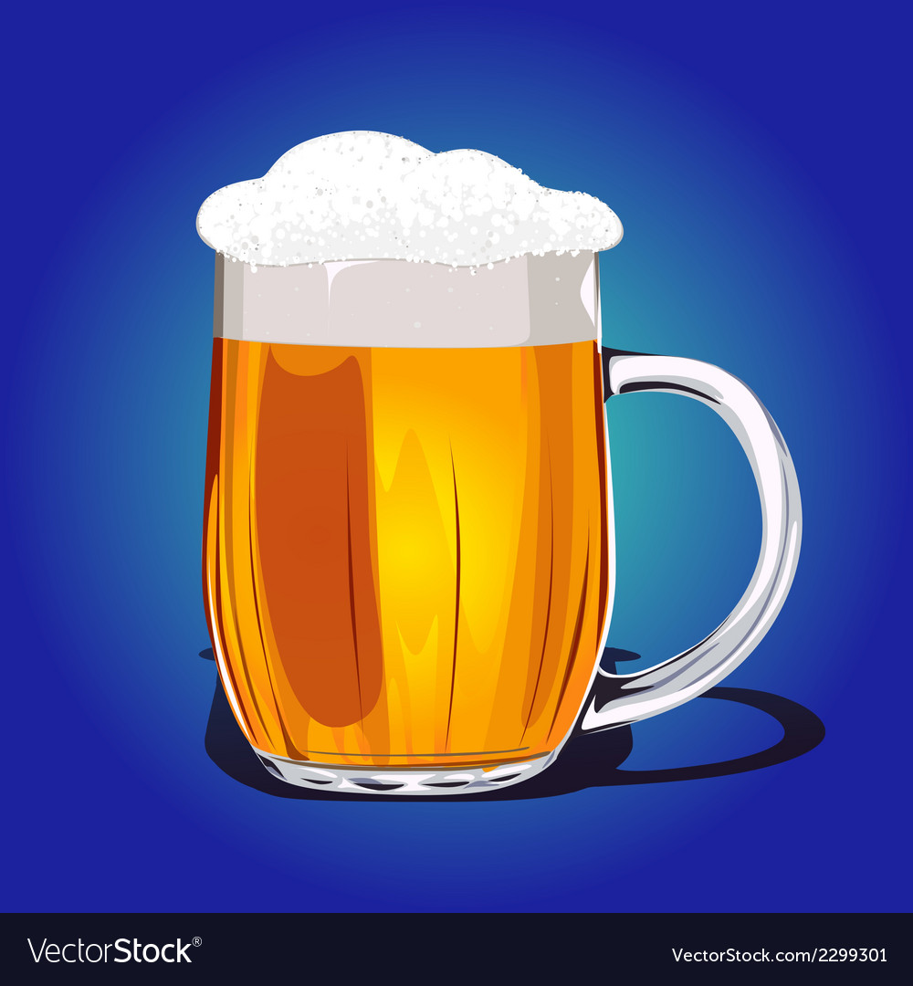 Mug fresh beer vector | Price: 1 Credit (USD $1)