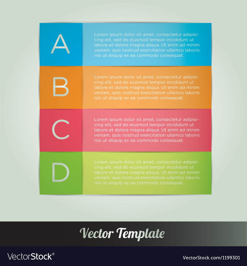 Options tab template vector | Price: 1 Credit (USD $1)