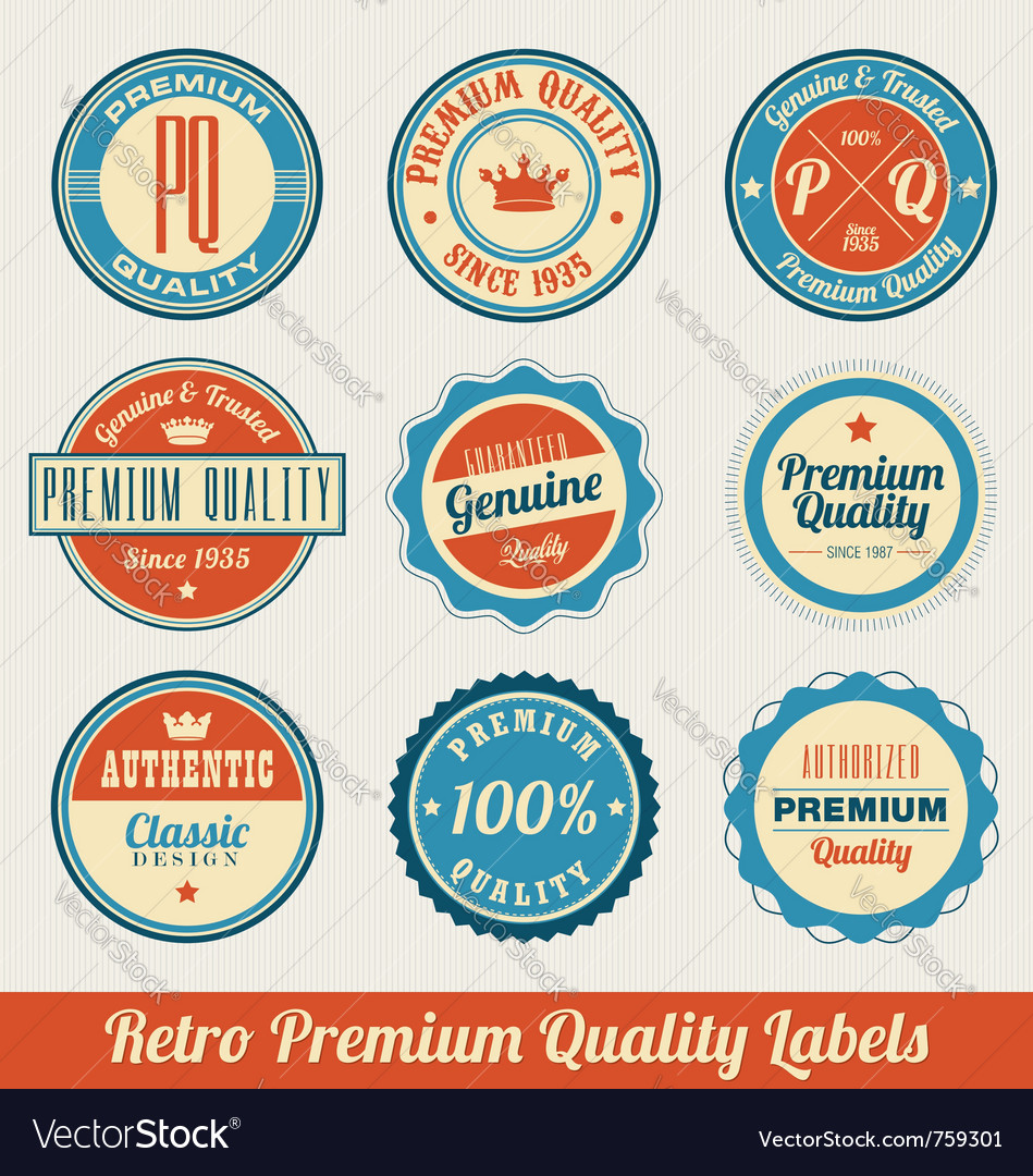 Retro labels vector | Price: 3 Credit (USD $3)