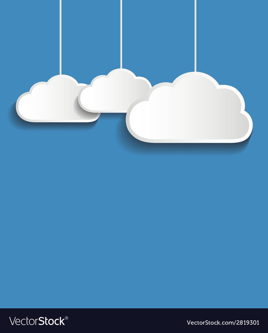 White clouds vector | Price: 1 Credit (USD $1)