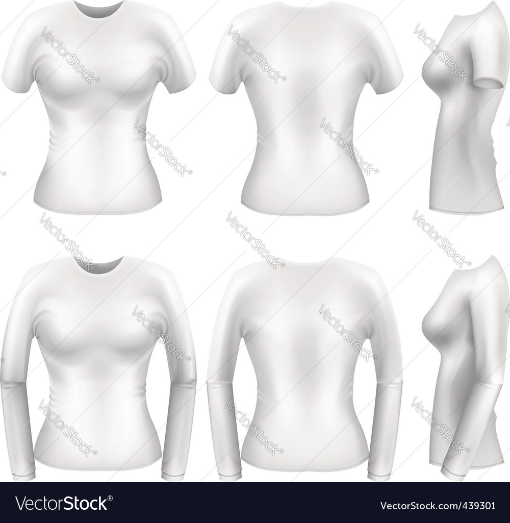 Women's t-shirts vector | Price: 1 Credit (USD $1)