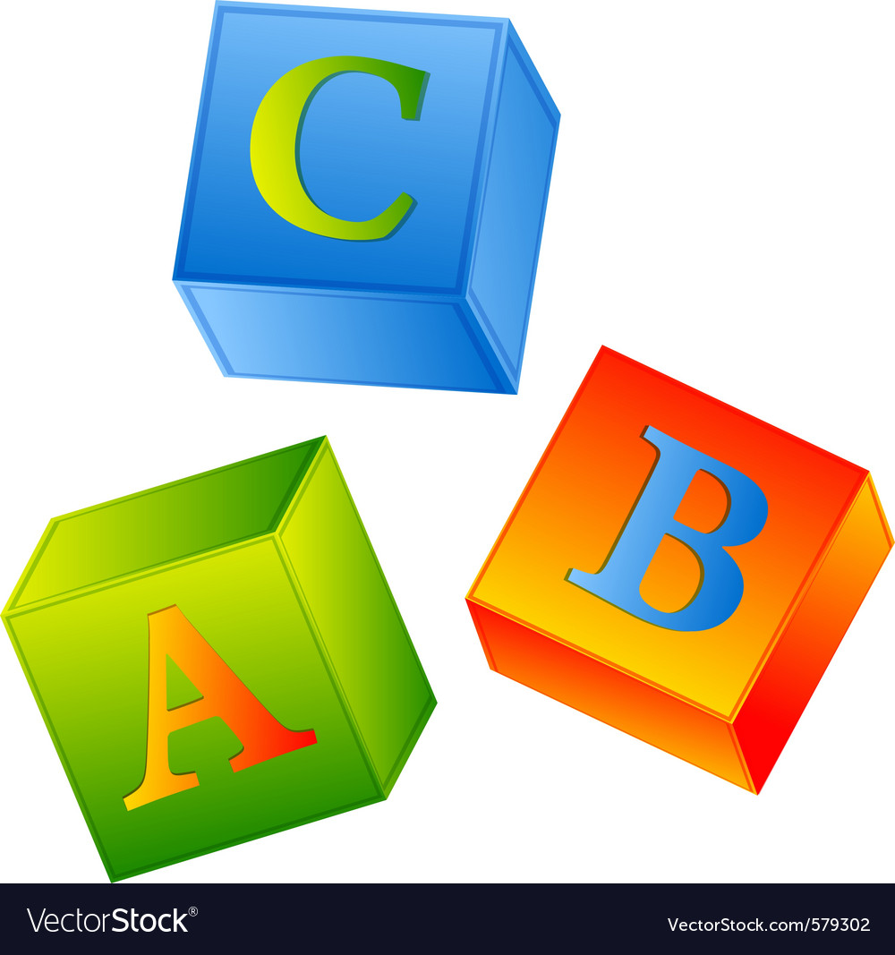 Abc cubes vector | Price: 1 Credit (USD $1)