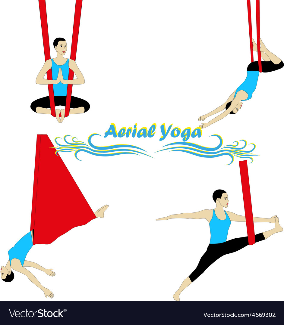 Aerial yoga vector | Price: 1 Credit (USD $1)