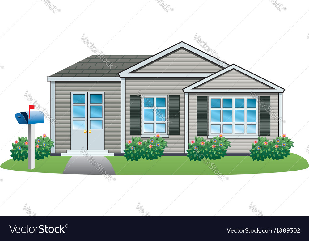 American house vector | Price: 1 Credit (USD $1)