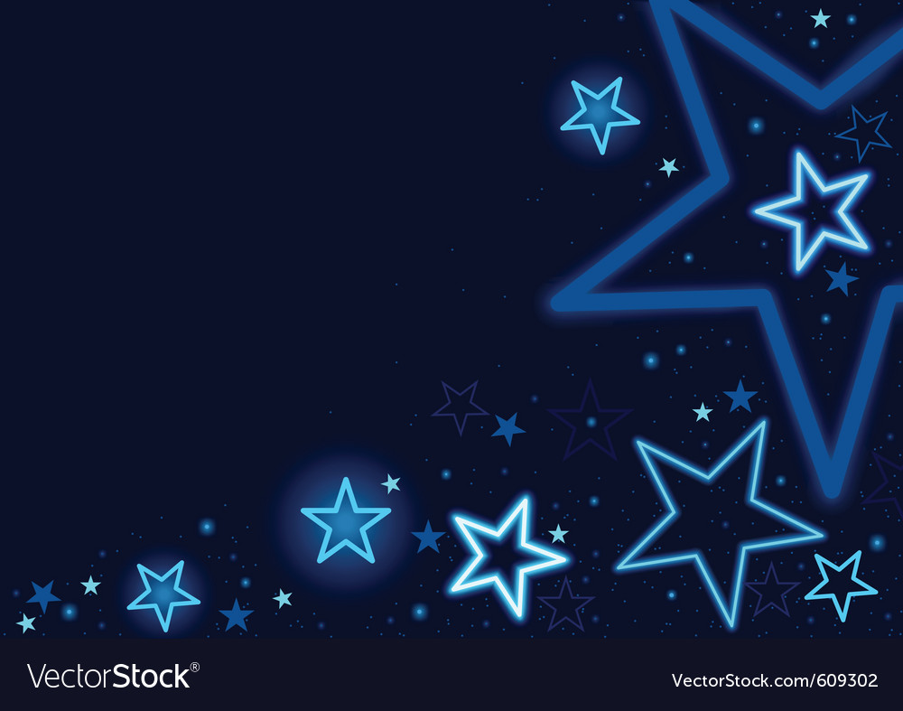 Blue stars vector | Price: 1 Credit (USD $1)