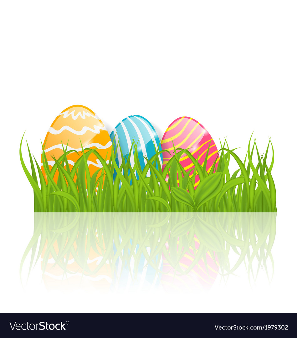 Easter background with paschal ornamental eggs vector | Price: 1 Credit (USD $1)
