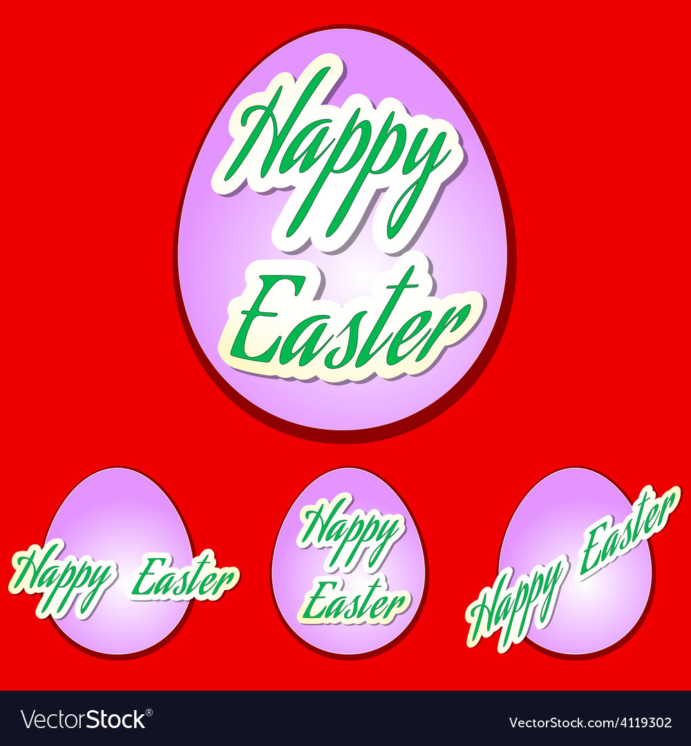 Easter set eggs vector | Price: 1 Credit (USD $1)