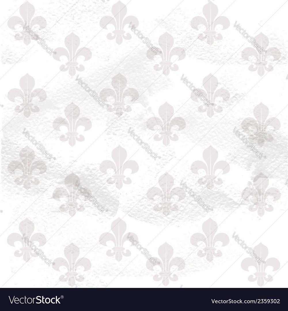 Fleur-de-lys seamless background on grange paper vector | Price: 1 Credit (USD $1)
