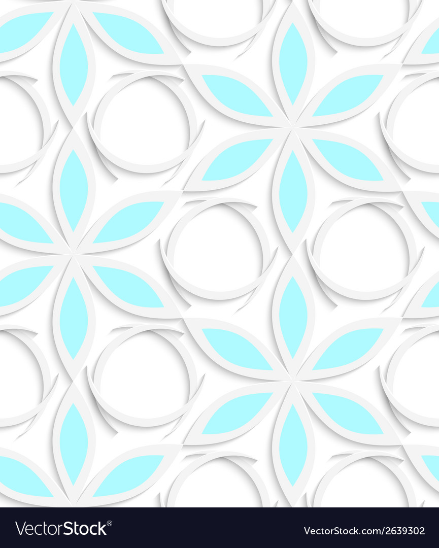Floristic white and blue seamless vector | Price: 1 Credit (USD $1)