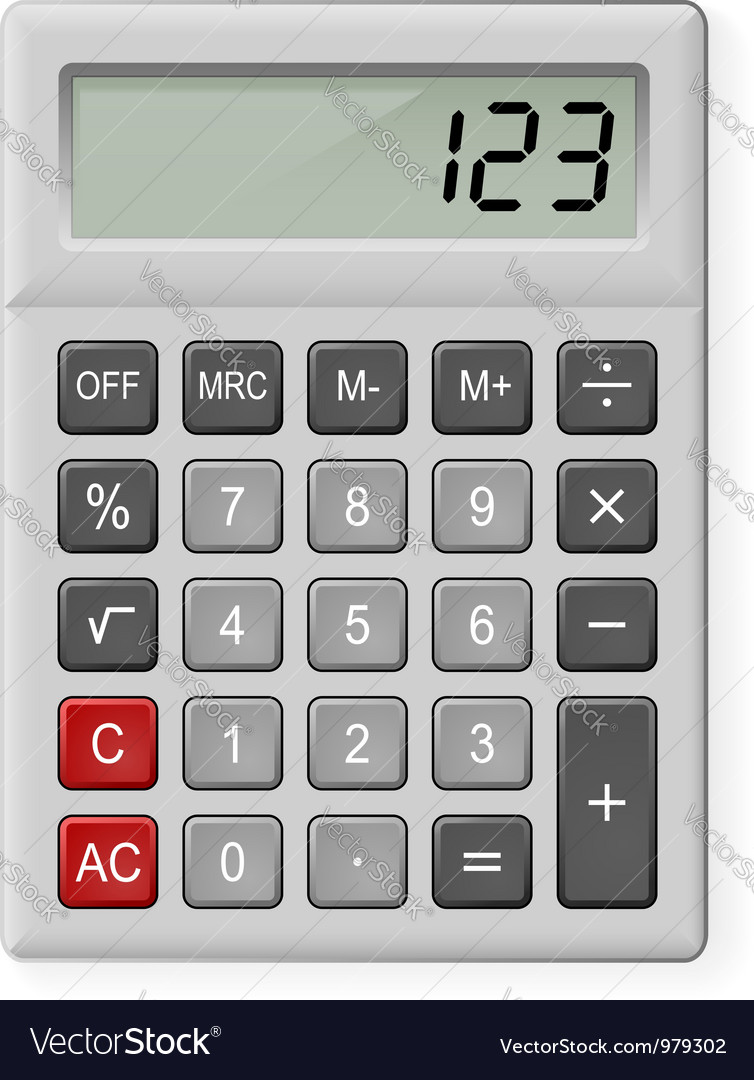 Gray calculator vector | Price: 1 Credit (USD $1)
