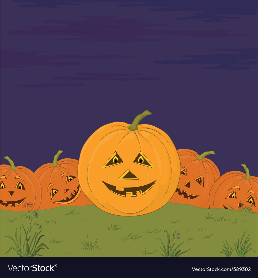 Halloween pumpkins army vector | Price: 1 Credit (USD $1)