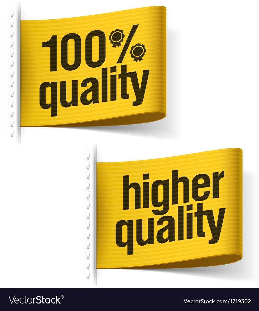 Higher quality product labels vector | Price: 1 Credit (USD $1)