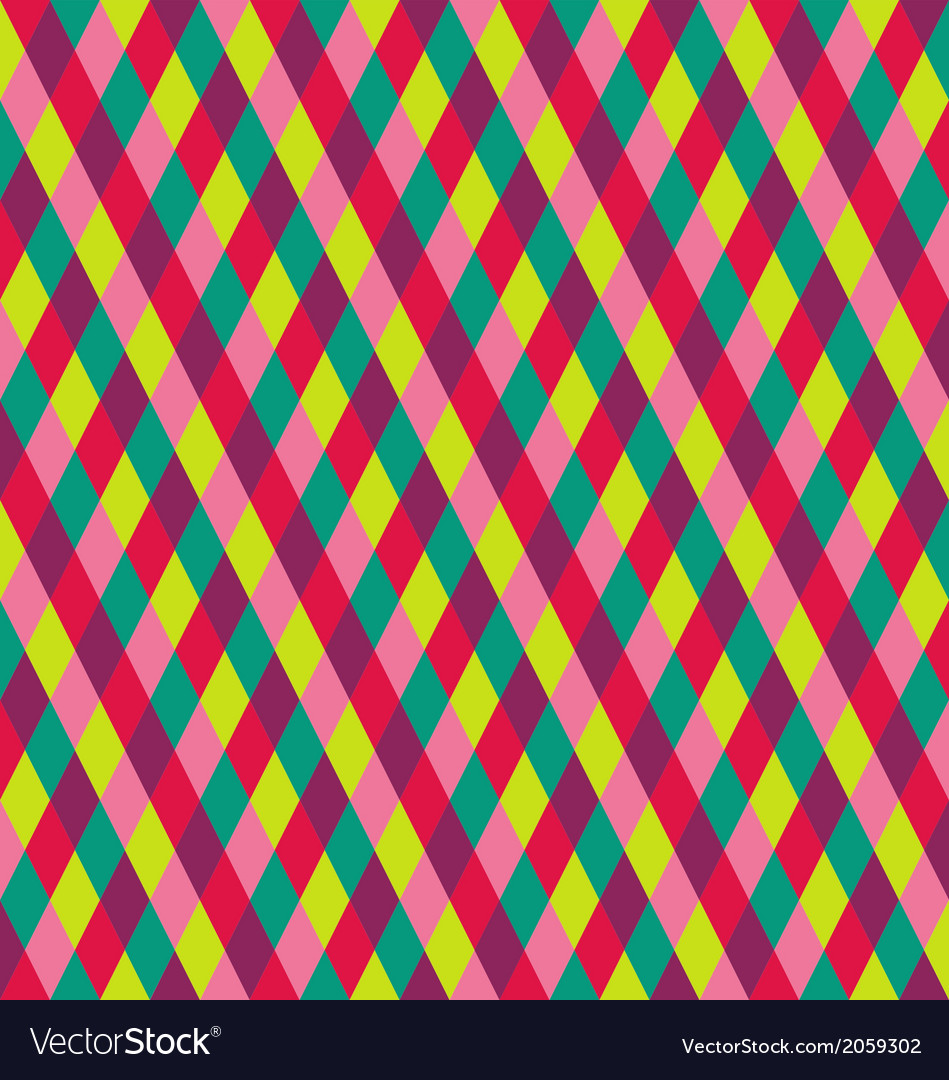 Rhombic seamless pattern vector | Price: 1 Credit (USD $1)