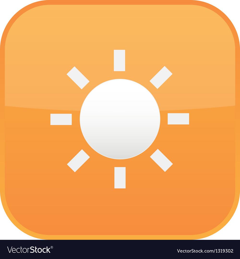 Sun icon vector | Price: 1 Credit (USD $1)