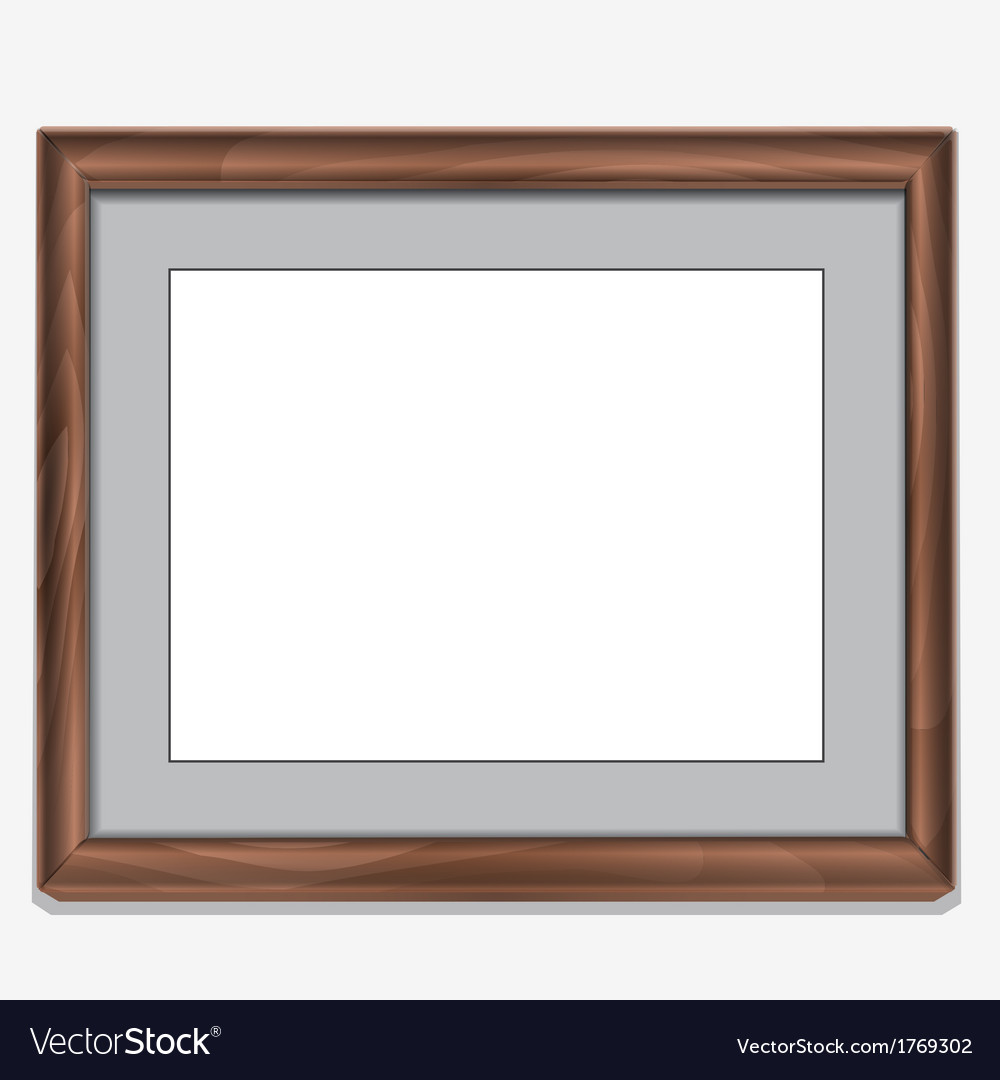 Wood photo frame isolated on white vector | Price: 1 Credit (USD $1)