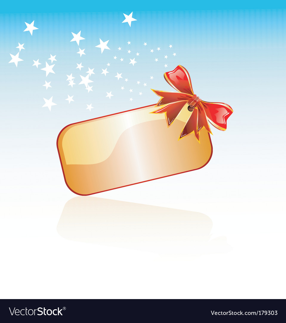 Christmas plate and ribbon vector | Price: 3 Credit (USD $3)