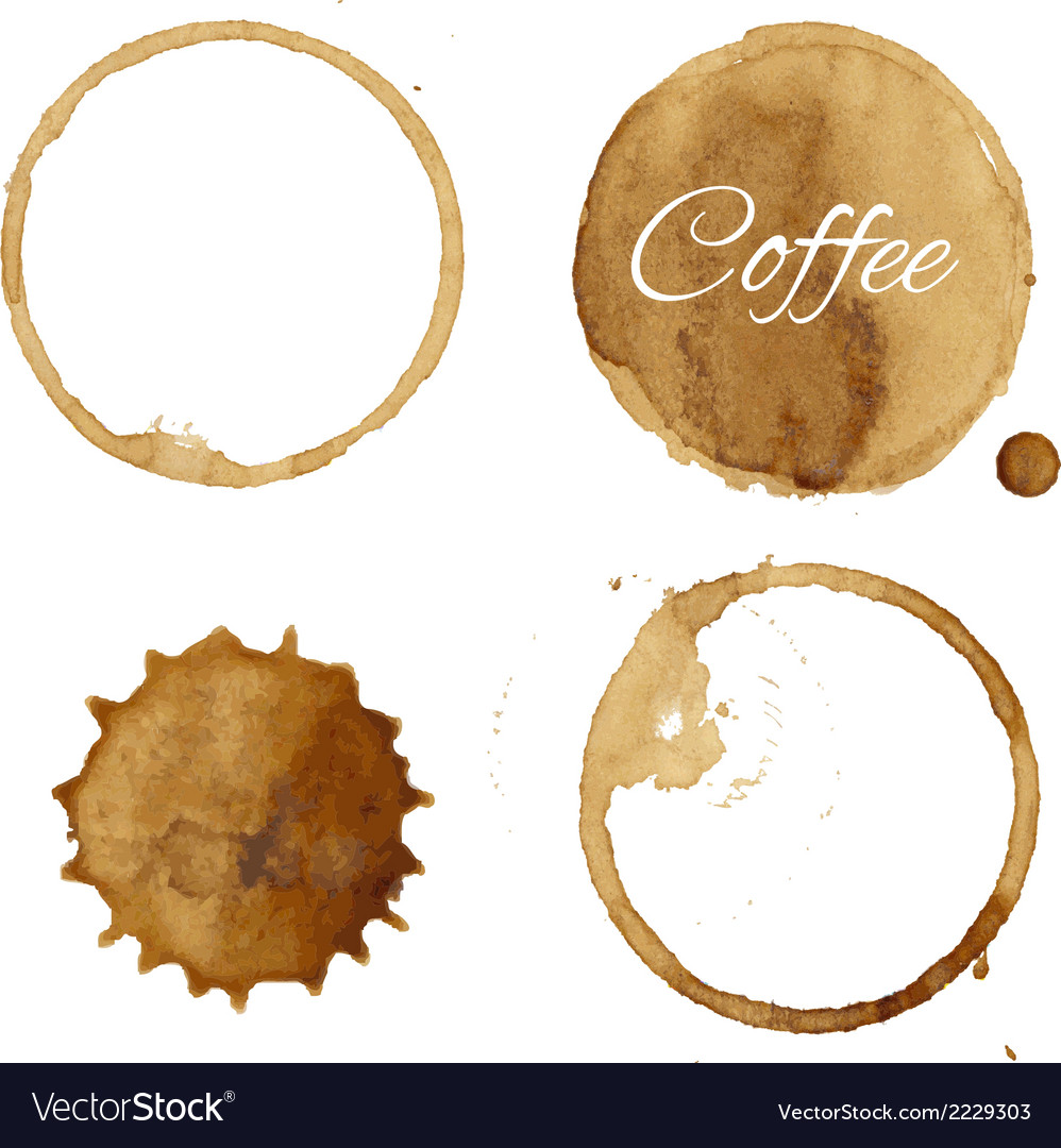 Coffee stains collection vector | Price: 1 Credit (USD $1)