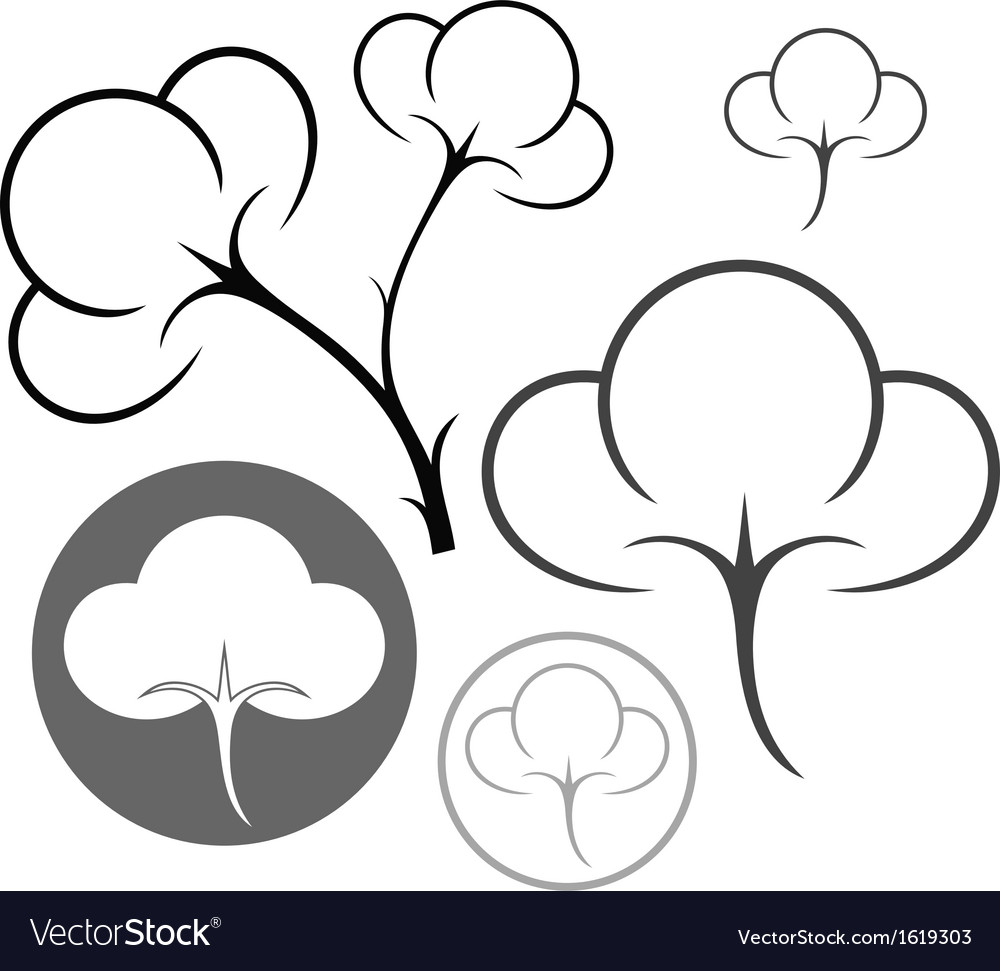 Cotton vector | Price: 1 Credit (USD $1)