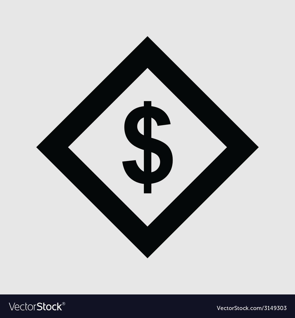 Dollar icon vector | Price: 1 Credit (USD $1)