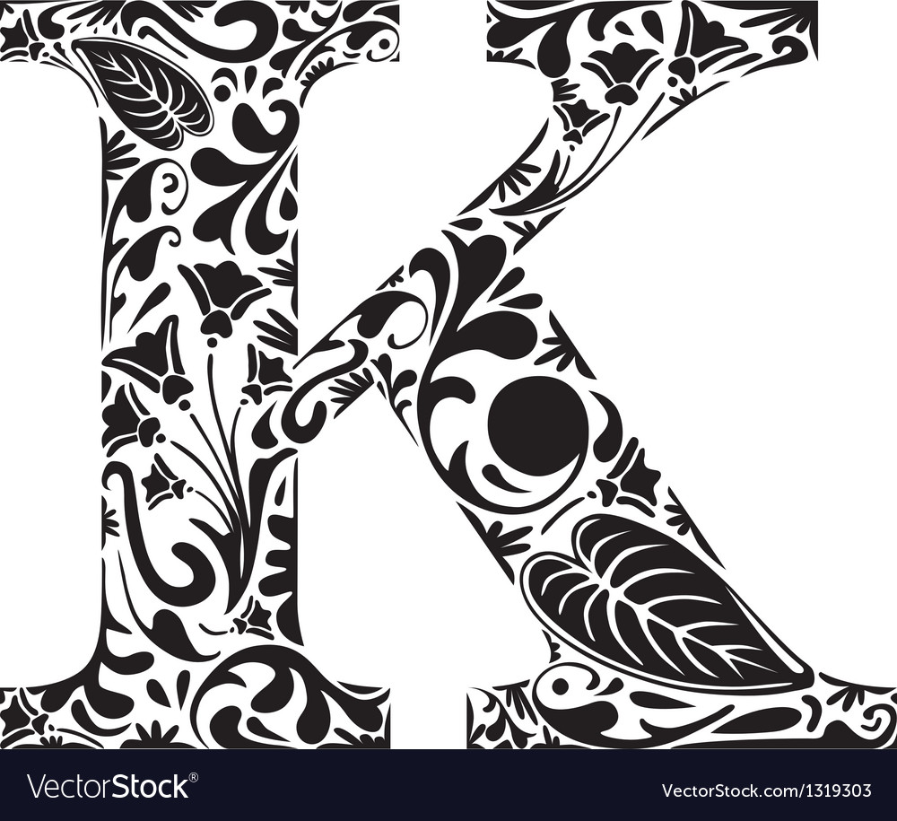 Floral k vector | Price: 1 Credit (USD $1)