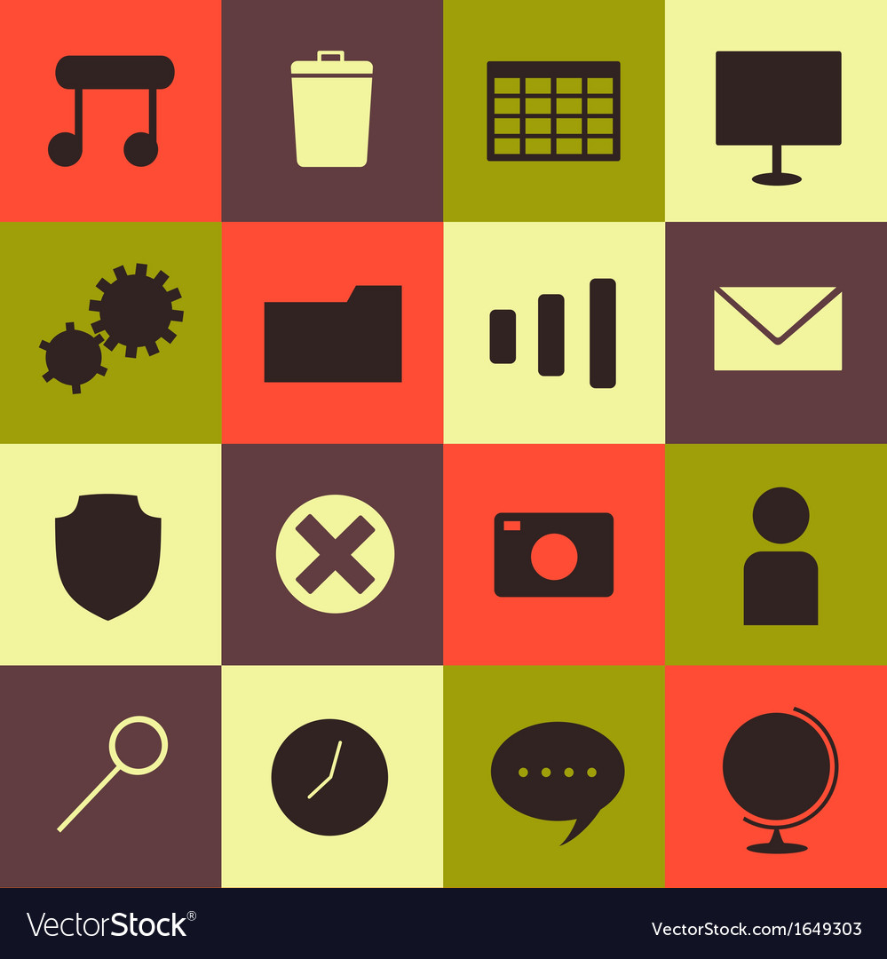 Minimalism icons set vector | Price: 1 Credit (USD $1)