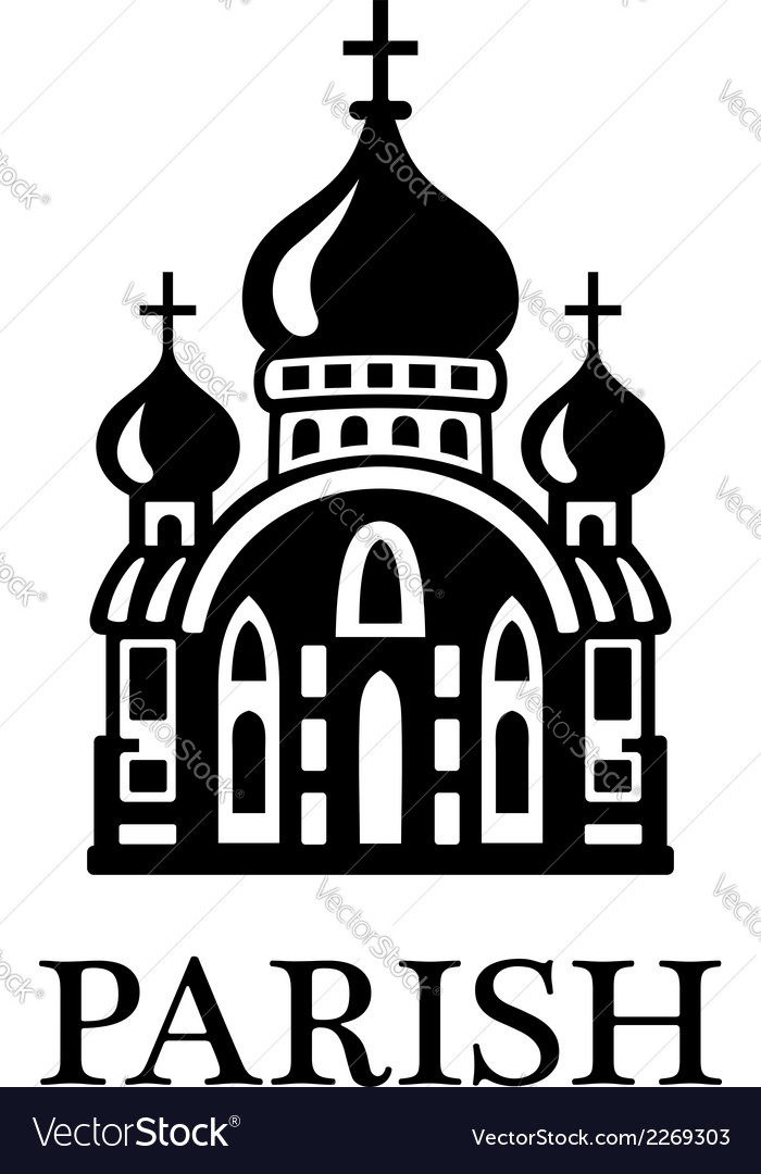 Parish church vector | Price: 1 Credit (USD $1)