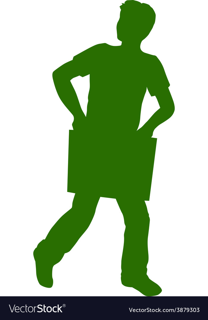 Silhouette of a boy vector | Price: 1 Credit (USD $1)