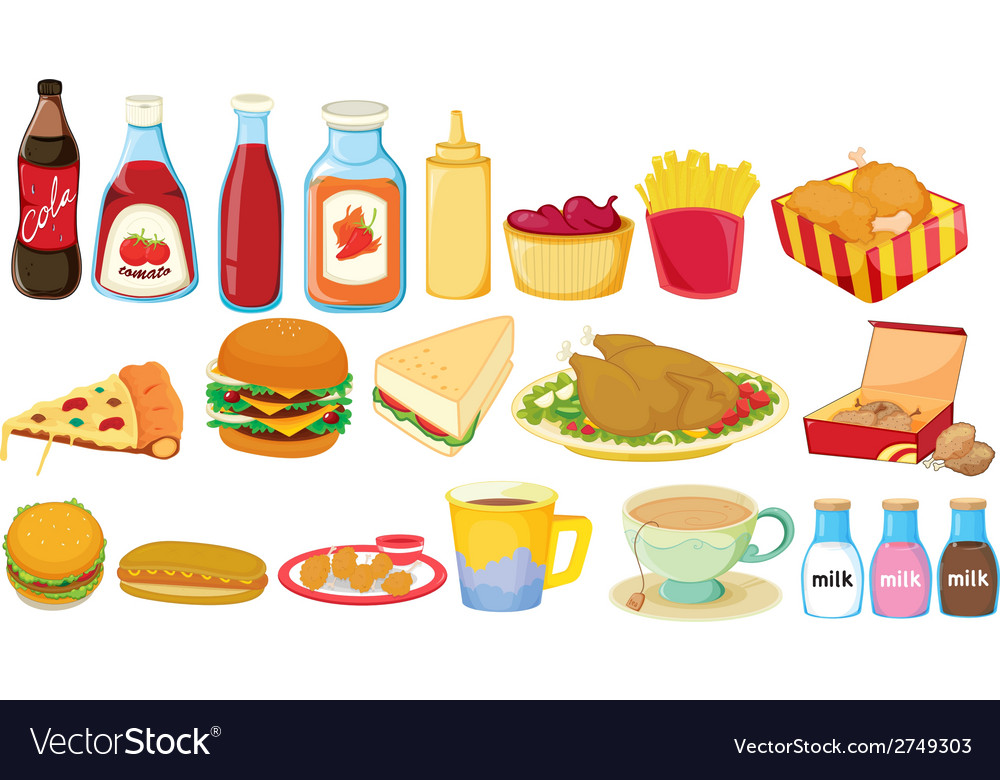 Snack foods vector | Price: 1 Credit (USD $1)