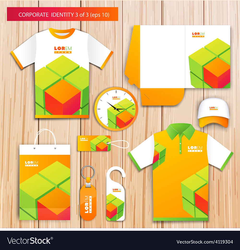 Artistic corporate identity template with vector | Price: 1 Credit (USD $1)