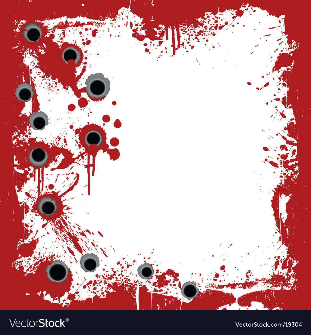 Bloody frame with gunshots background vector | Price: 1 Credit (USD $1)